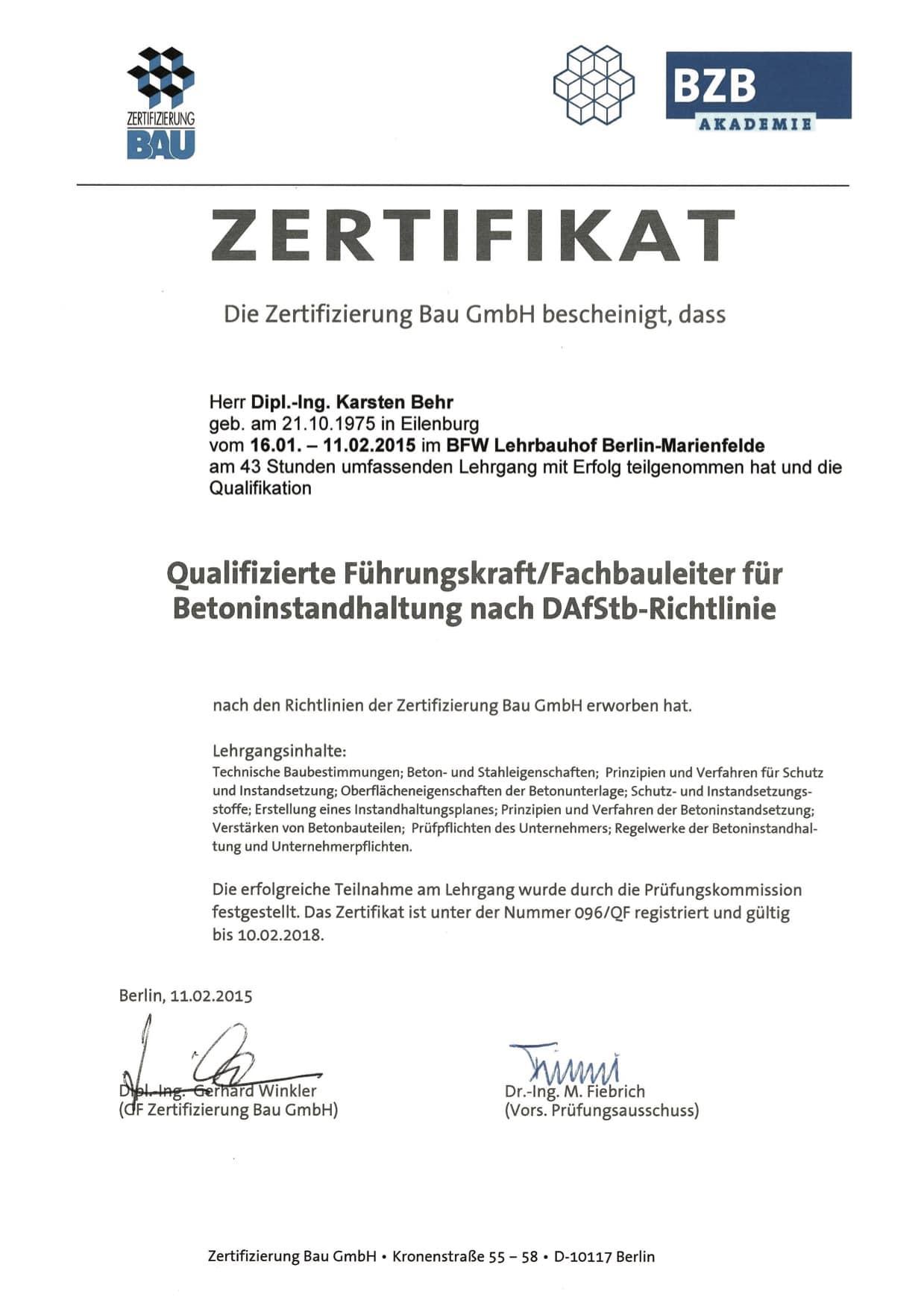 Karsten Behr - Qualifizierte Führungskraft