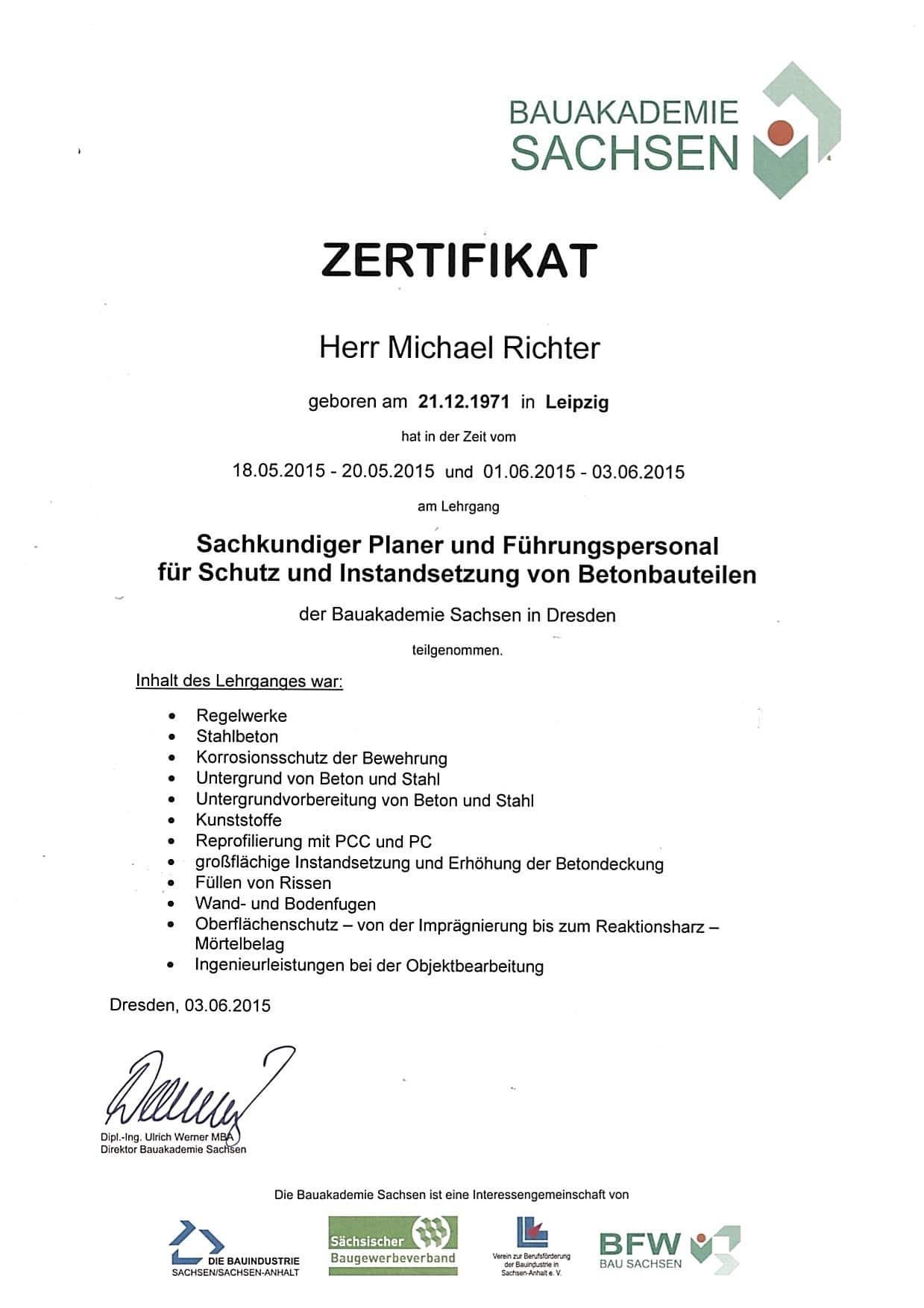 Sachkundiger Planer Michael Richter