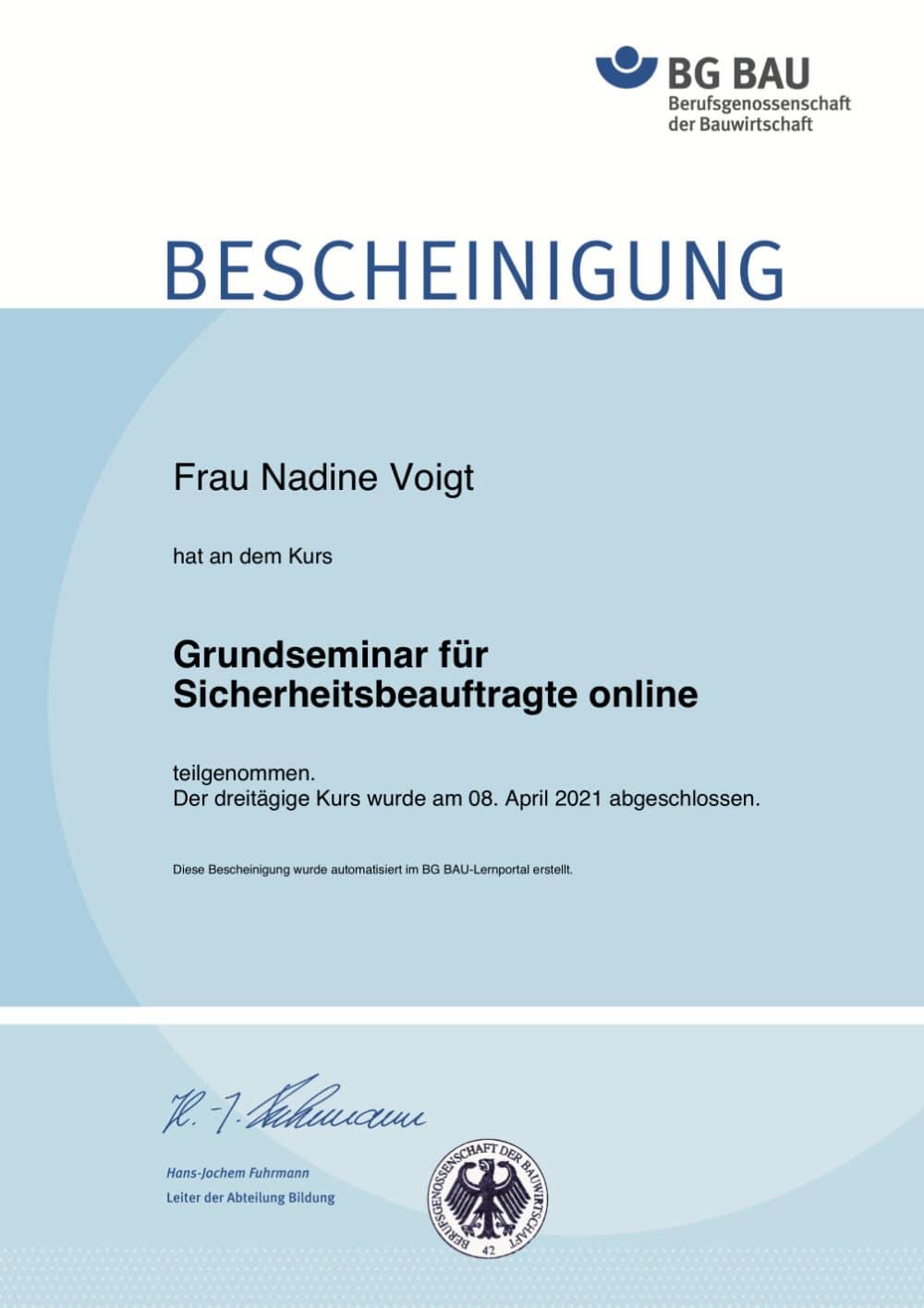 Zertifikat-Sicherheitsbeauftragte-BG-Bau