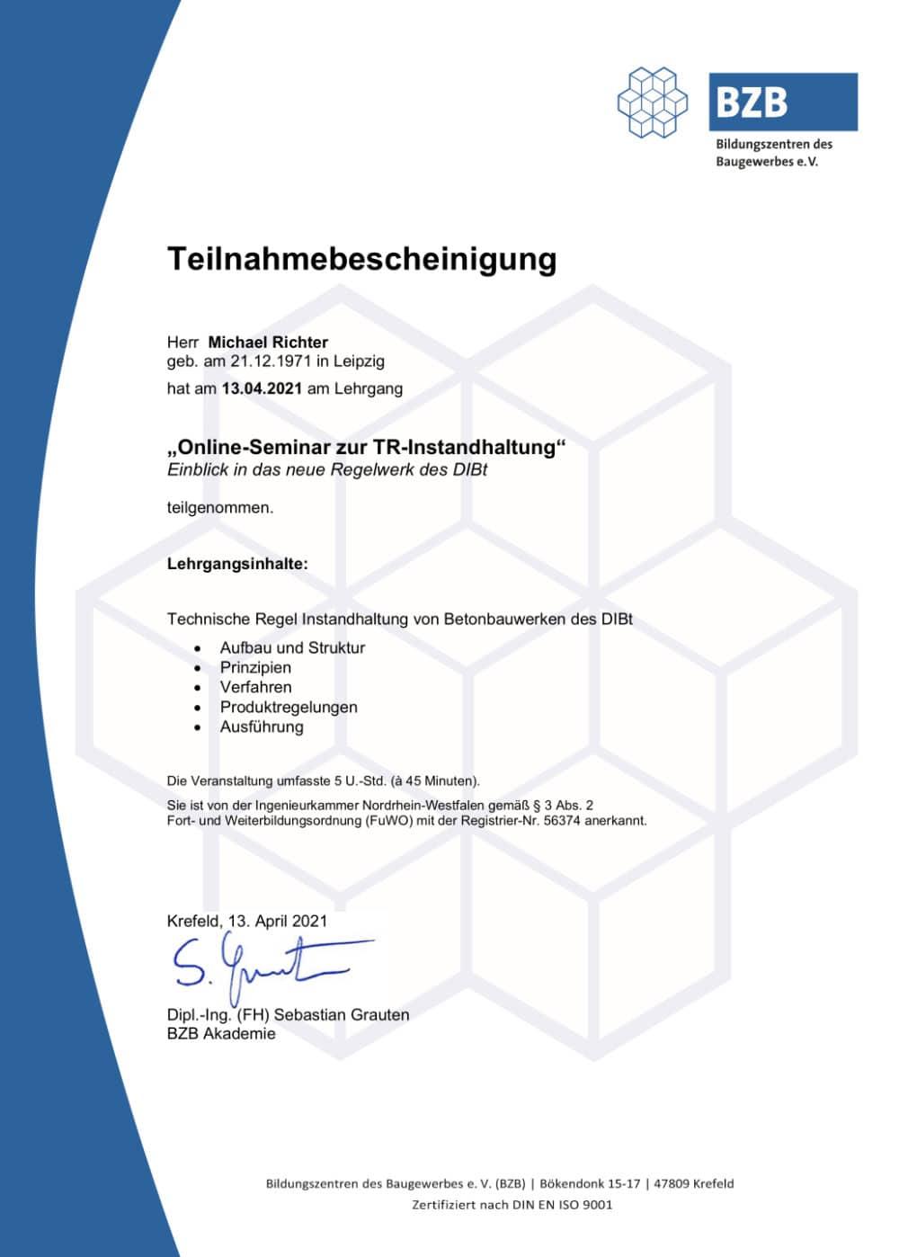 Zertifikat-TR-Instandhaltung-Betonbauwerke-DIBt